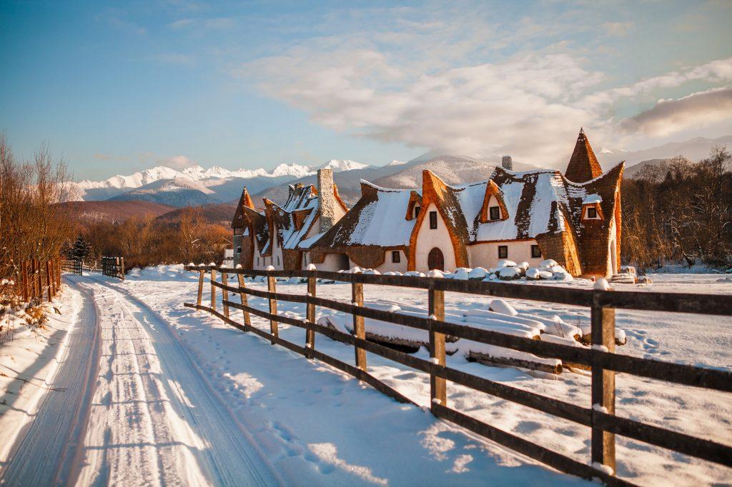 Clay Castle in winter